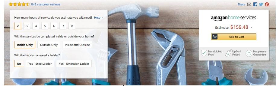 Amazon Handyman Service Review